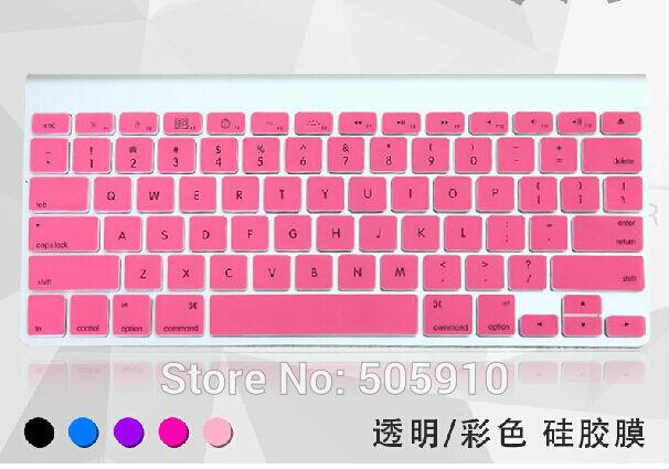 NEW ARRIVAL! 12 colors Silicone Cover Skin for IMAC G6 Wireless Keyboard Desktop PC PROTECTOR SKIN US