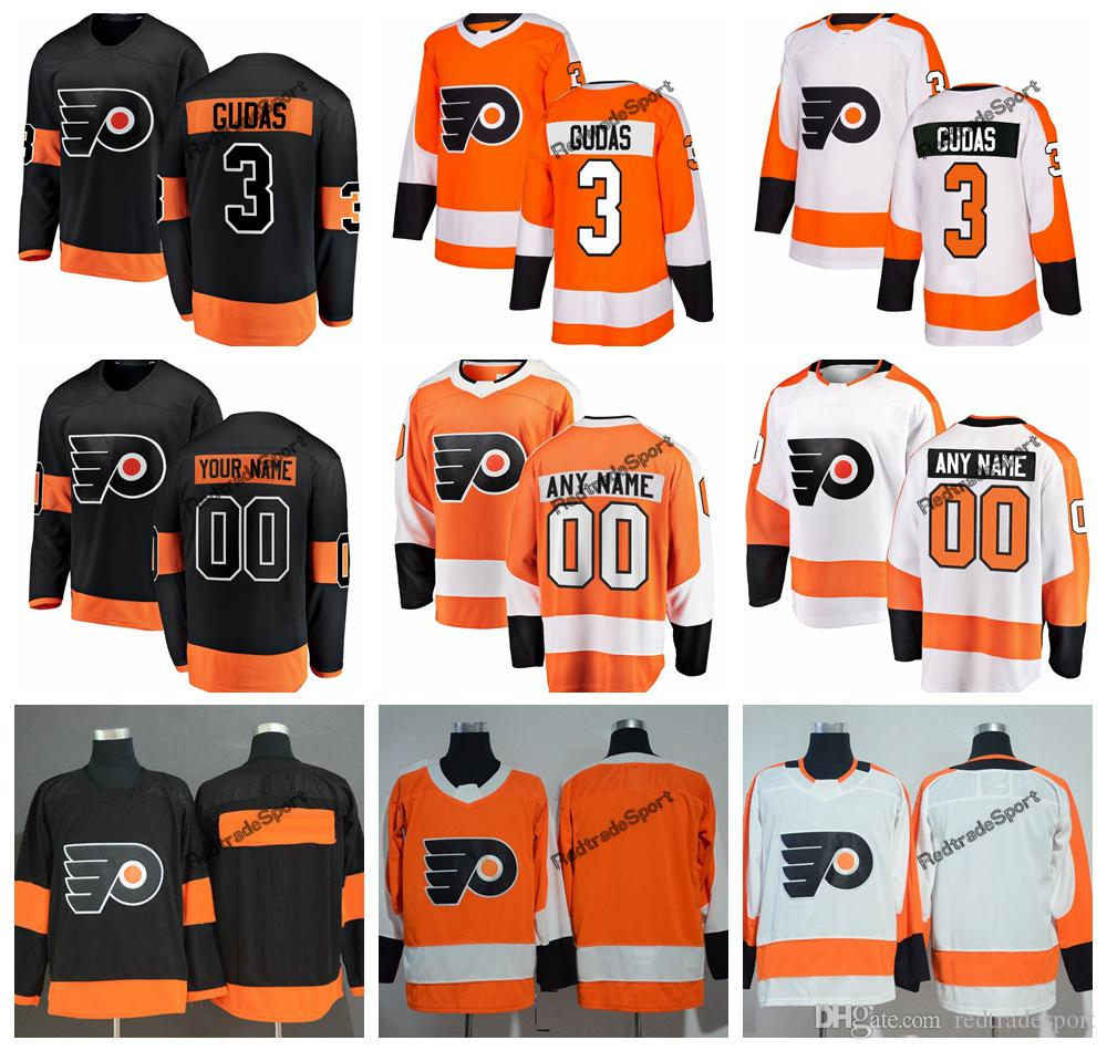 the latest 88de8 dcd28 2019 Philadelphia Flyers Radko Gudas Hockey Jerseys Mens Custom Name  Alternate Black #3 Radko Gudas Stitched Hockey Shirts S-XXXL