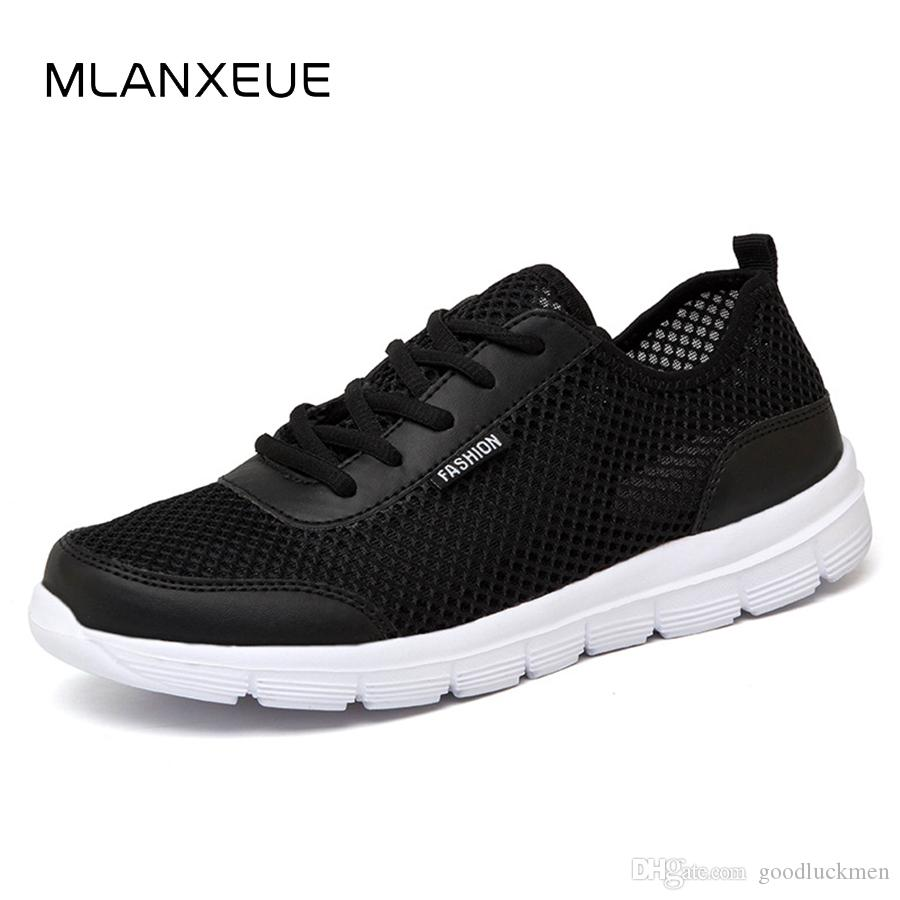 7ae5746697877 Women Sneakers 2019 Men Shoes Summer Sneakers Breathable Fashion Mesh  Casual Shoes Couple Lover Mens Mesh Shoes Big Plus Size Lace Up Shoe Shoes  For Women ...