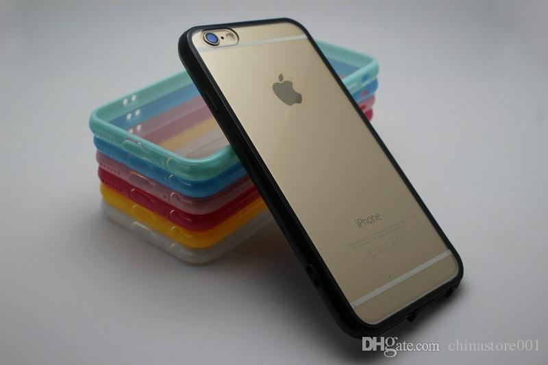 Custodia iPhone in silicone acrilico trasparente per iPhone 7 8 X XR XS Plus Cover posteriore per iPhone Proteggi casse del telefono