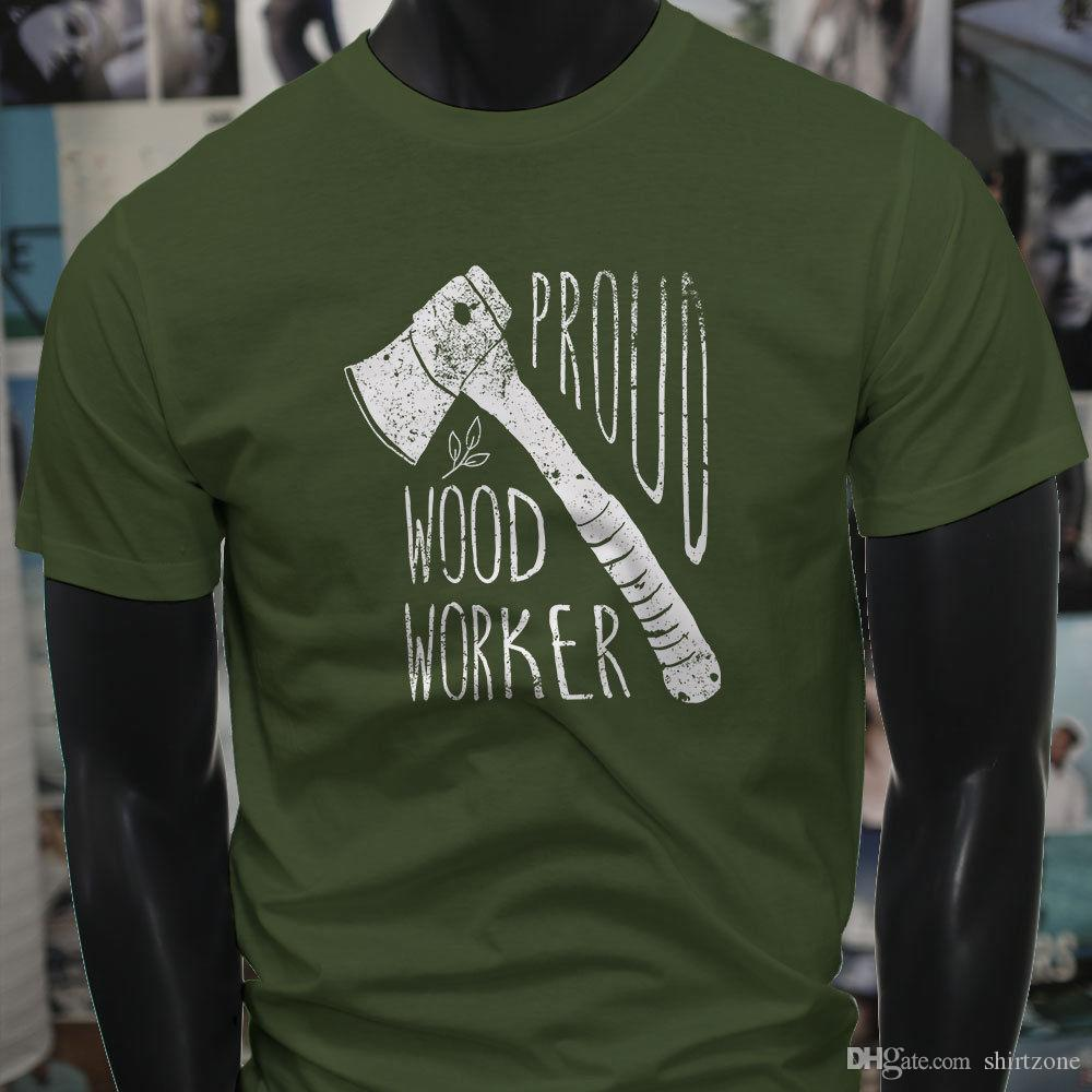 f4e3fa29 Proud Wood Worker Machete Axe Lumber Carpenter Mens Military Green T-Shirt  Tee Shirt For Men Design Custom Short Sleeve Valentine's XXXL Cou