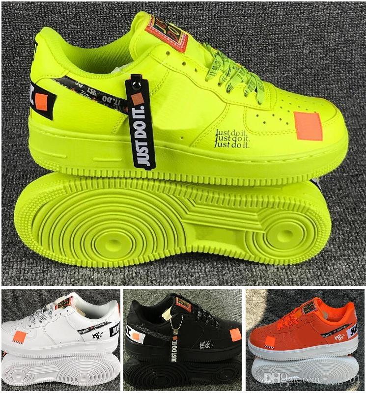 65571c5a87adc Acheter NIKE AIR FORCE 1 Vente Chaude Calassis Imperméable Air  Skateboarding Sport Chaussures Blanc Noir Vert Orange 4 Couleurs En Option  Couple Skate ...