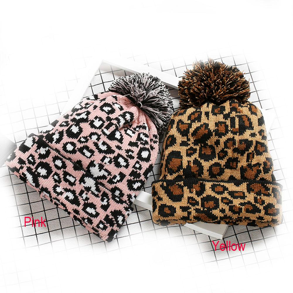 050210943403 Hot Sell 2018 Cheap Fashion New Women Wool Adult Women Men Winter Leopard  Crochet Hat Knit Hat Beanie Hairball Warm Cap #m9 Crochet Beanie Beanies  For Girls ...