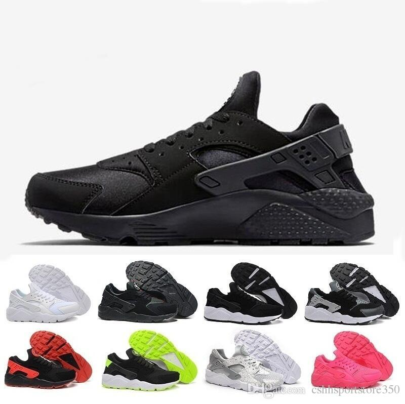 new styles f2cb2 2c45d 2019 Cheap Air Huarache 2 II Ultra Classical all White And Black Huaraches  Shoes Men Women Sneakers casual Shoes Size 36-45 online for sale