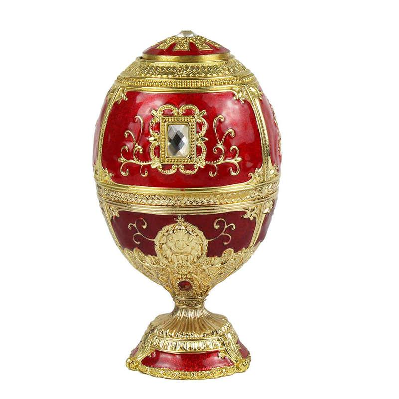 European Painting Creative Gift Ornaments Toothpick Box Castle Egg Shaped Toothpick Party