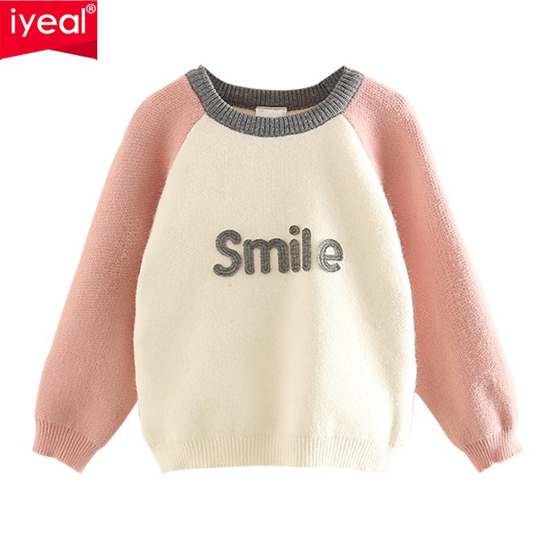 f01f2e6ac8856 IYEAL Spring Girls Clothes Children s Sweaters New 2019 Baby Girls Knitted  Sweater Autumn Toddler Sweaters Casual Kids Knitwear