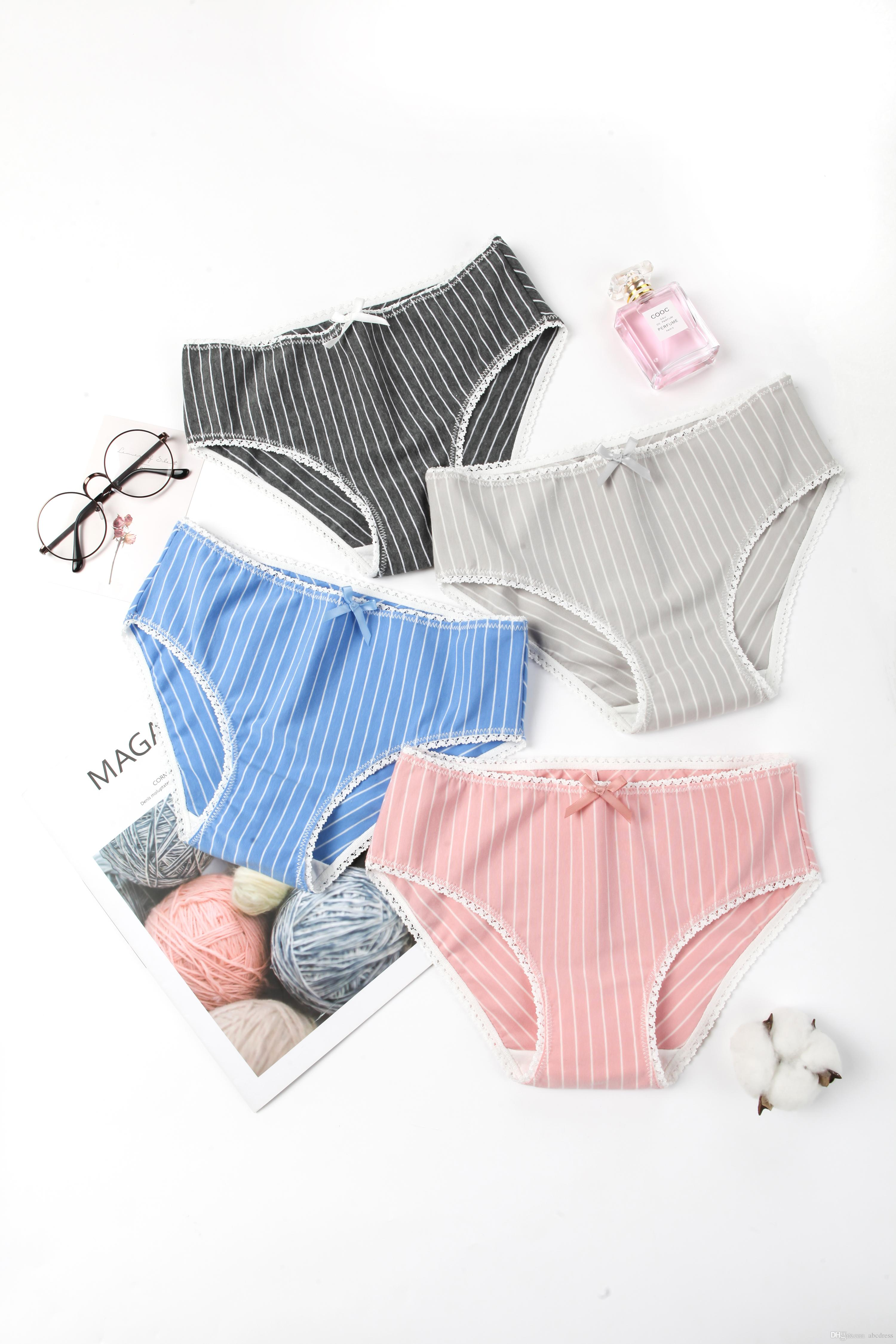 Fashion comfortable new cotton cloth lace colorful beautiful Panties student girl adult Physiological Pants women underwear