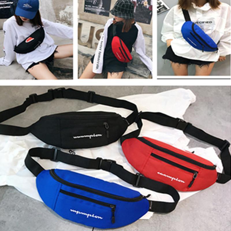 63172e8c4168 ChamPion Fanny Pack Unisex Waist Bag Brand Fashion Double Zipper Poakcket  Shoulder Bags Beach Travel Shopping Belt Packs Phone Wallets