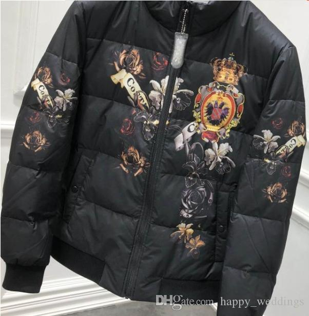 2019 spring 19ss crown royal famous brand designer print coat down winter clothing for men fashion jackets warm