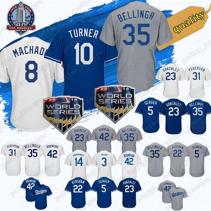 watch a2a1e 02f10 HOT 8 Manny Machado Los Angeles Jersey Dodgers Jerseys 10 Justin Turner 22  Clayton Kershaw 23 Adrian Gonzalez 66 Yasiel Puig Baseball