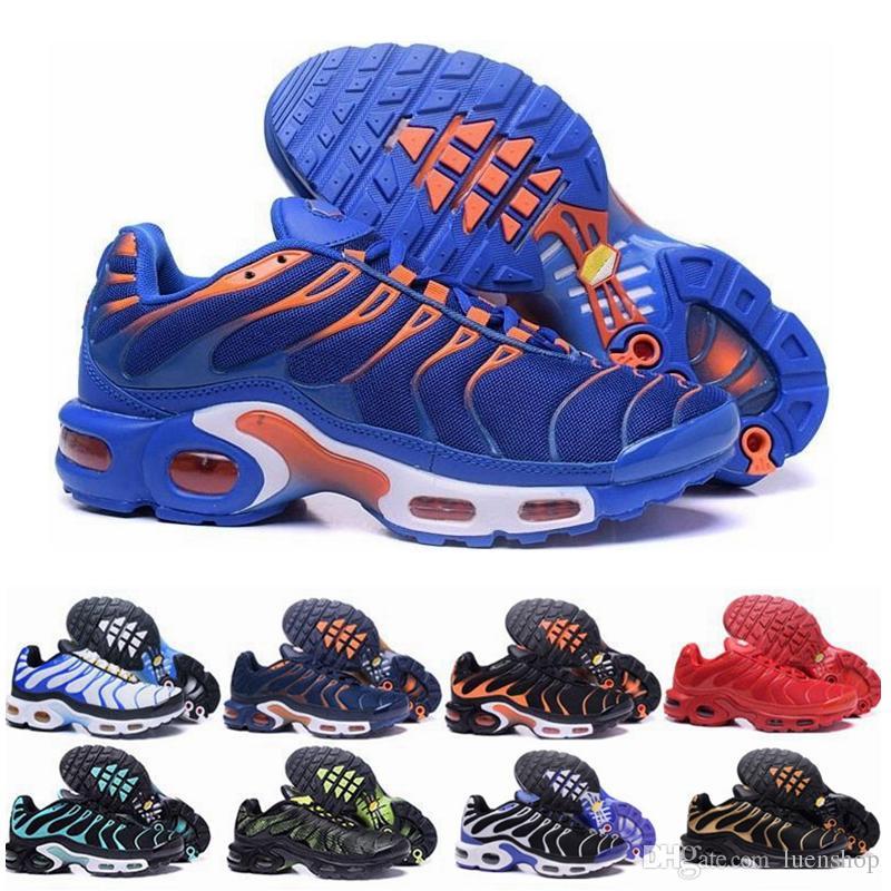 2019 Nike Air Max Plus New TN y las zapatillas de running para hombre Olive Mens para hombre usan una zapatilla de running para hombre de color azul