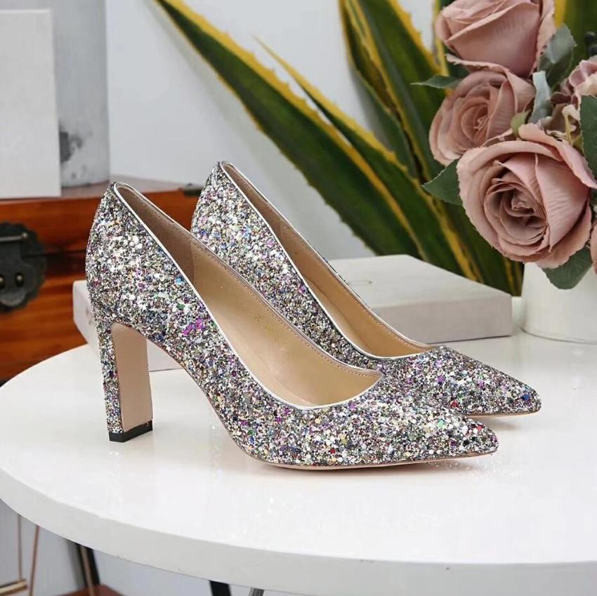 00a1f5ff23 35-39 2019 For Wedding Sparkly Bling Rhinestone High Heels Women Crystal  Wedding Shoes Bridal Shoes Cheap