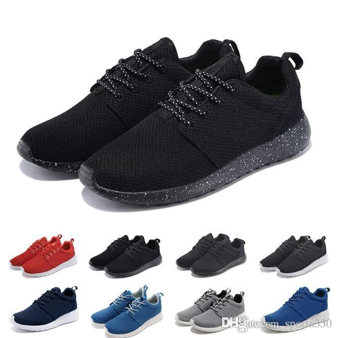 cheap for discount d29c4 6768c Acheter London Run Chaussures 3.0 TANJUN Noir Blanc Hommes Chaussures De Course  Chaussures De Course Olympic Runner Hommes En Plein Air Designer De Sport  ...
