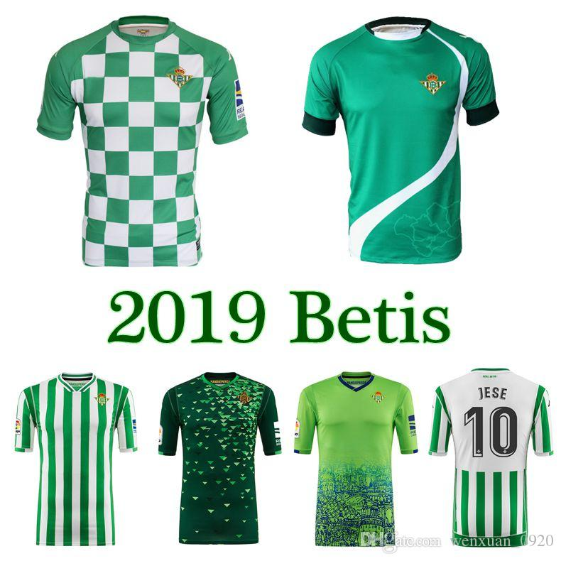 c64556e0dc2 2019 2019 REAL BETIS Limited Edition Checkered Soccer Jersey Home Away 3rd  JOAQUIN Lo Celso JOSE C. TELLO A. GUARDADO Canales Football Shirts From ...