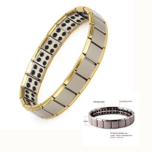 2019 Fashion Men Classic Simple Style Bracelets Mode Titanium Steel Magnetic Therapy Energy Bracelet Hot Sale