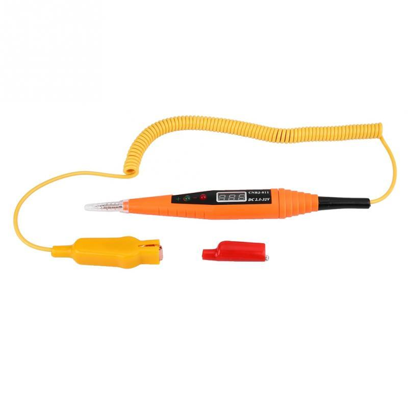 Car Digital Electric Voltage Tester Light Test Pen Automotive Test Probe Pencil
