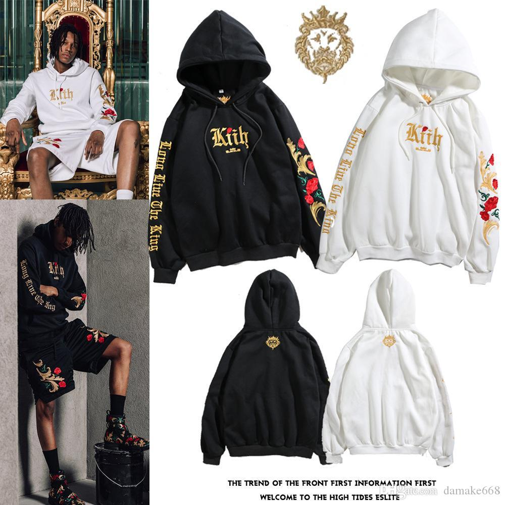 Mens white designer hoodie sweatshirt sweat coat pullover jackets Embroidered Black Gold Sweater Platinum Rose Hoodie hood