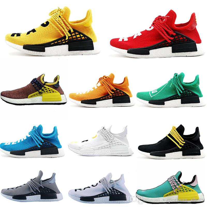 fcbe931c82942 2019 Pharrell Williams HU NMD Designer Trainers Trail Human Race For Mens  Women Shoes Luxury Brand Running Sports Sneakers Womans Running Shoes Shoe  ...