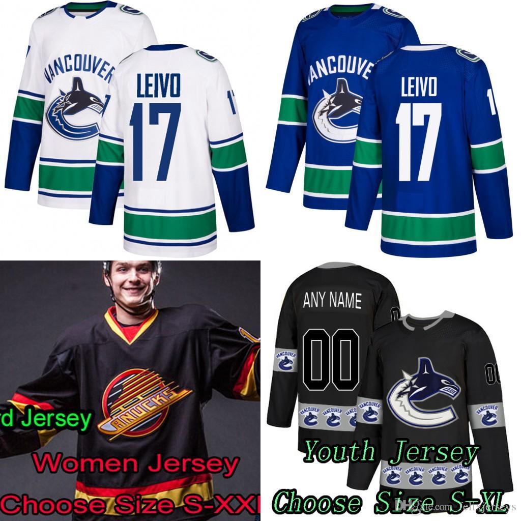 28cdd2c9f 2019 Vancouver Canucks 17 Josh Leivo Bo Horvat Elias Pettersson Jay Beagle  Brock Boeser Antoine Roussel Anders Nilsson Jersey From Felixjerseys, ...