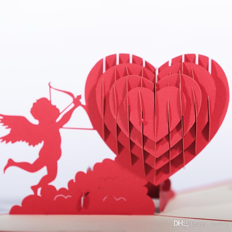 Biglietto Auguri Matrimonio Pop Up : Acquista nuovo arrivo 3d pop up biglietti dauguri matrimonio
