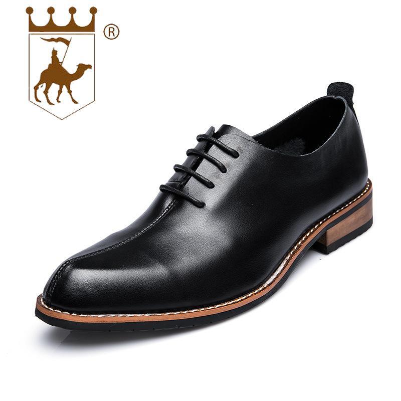 d2db995eea Compre BACKCAMEL Otoño Nuevo Negocio De Los Hombres Clásicos Británicos  Retro Zapatos De Los Hombres Resistentes Al Desgaste Aumento De Los Zapatos  De ...