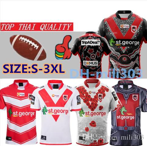 19 20 St George Illawarra Camisa XBLADES DRAGONS RUGBY JERSEY 2019 2020 Liga Nacional de Rugby St George Jersey camisas tamanho s-3XL
