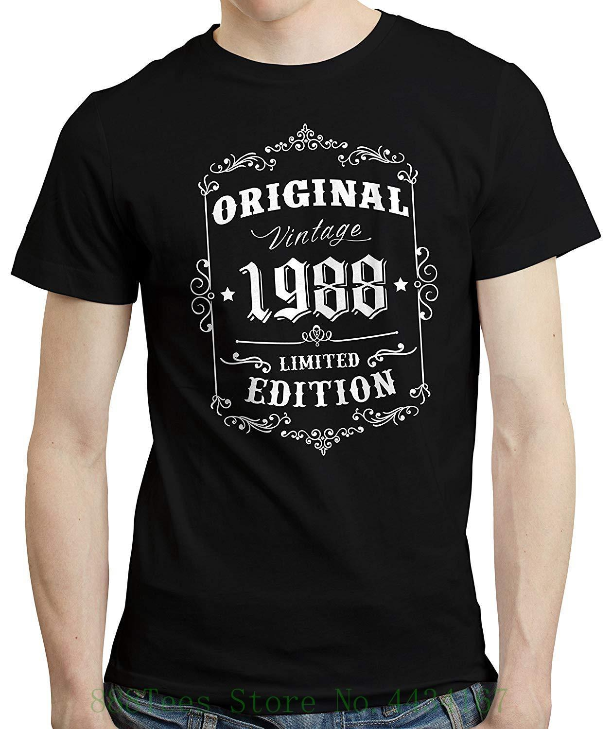 4695bd569cf Men 30th Birthday Born In 1988 Retro Style T Shirt New Short Sleeve Round  Collar Mens T Shirts Fashion 2018 Good T Shirt Design Latest T Shirt Design  From ...