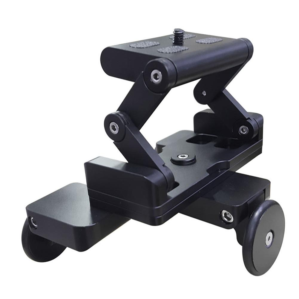 Freeshipping Foldable Tricycle Camera Rail Cars Table Dolly Car Video Slider Traker 1/4'' Screw Mount Plate for DSLR Camera For GoPro