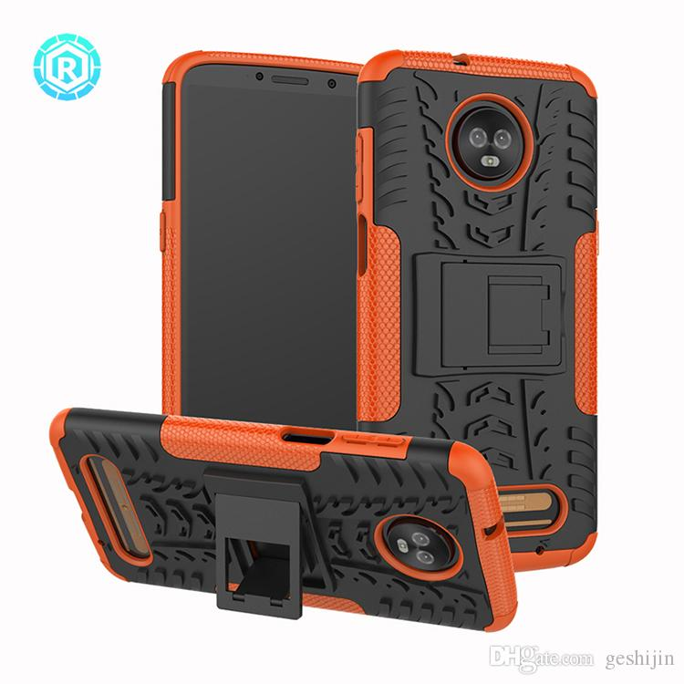 check out 7f5de cf905 For Moto Z3 Play Phone Case Heavy Duty Tough Rugged Shockproof Hybrid  Kickstand Hard Case Compatible Cover for Moto Z3 Play