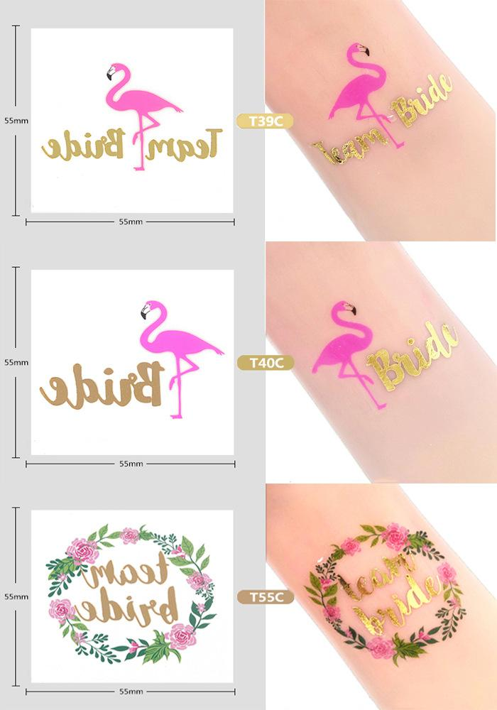 Bridal Shower Team Bride To Be Tattoo Stickers Bride Hen Bachelorette Party Decor Wedding Party Christmas Decoration,5