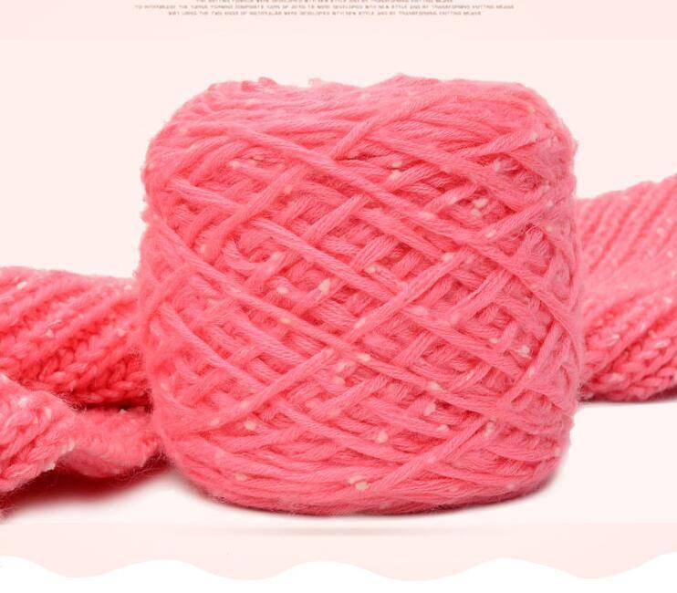 2019 Snowflake Velvet Yarn Thick Crochet Bar Needle Handmade Diy