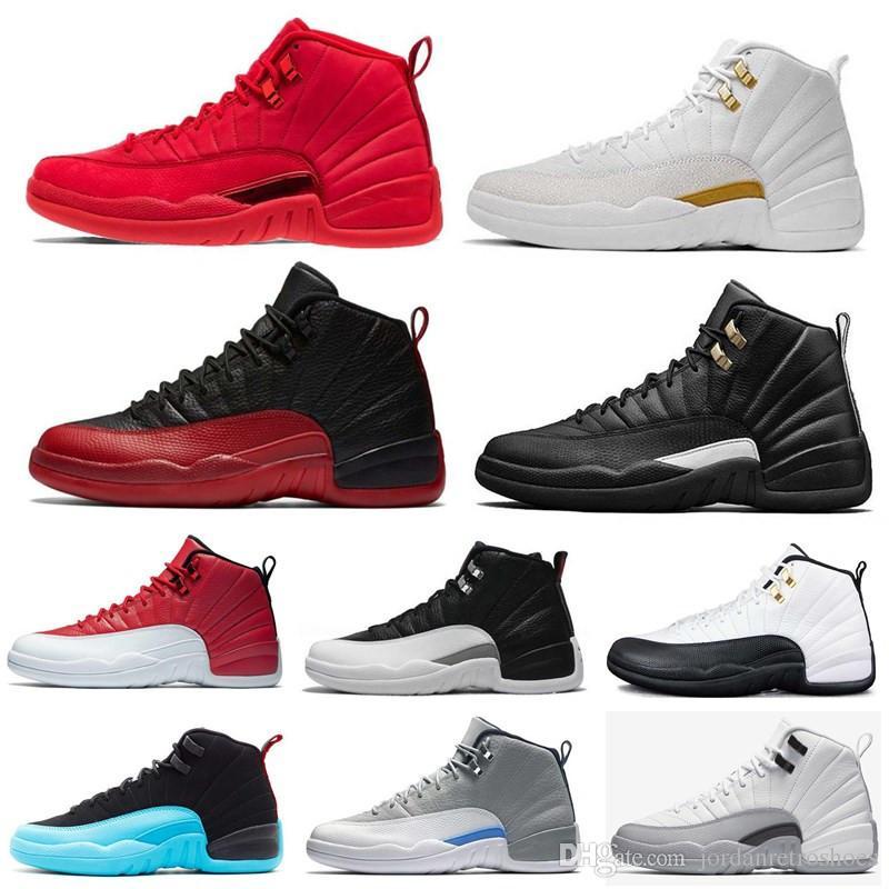 0b90c9cb9ad6ba Friday Gym Red Mens Basketball Shoes 12 12s Michigan Navy Bulls Flu ...
