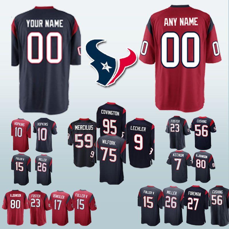 brand new 25843 a9e05 can Custom Houston Jerseys Texan 84 Ryan Griffin 10 DeAndre Hopkins 23  Arian Foster 7 Case Keenum jersey