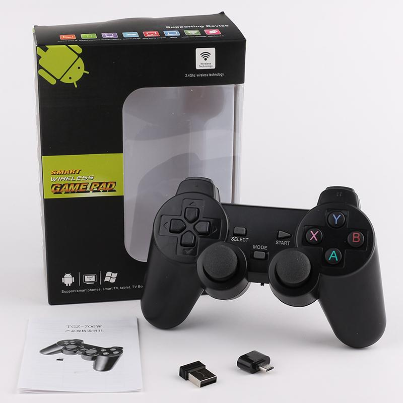 Wireless Controller TGZ-706W 2.4GHz for Smart Joystick Gamepad smart Game Controller for Game Playing Station With box Packaging DHL