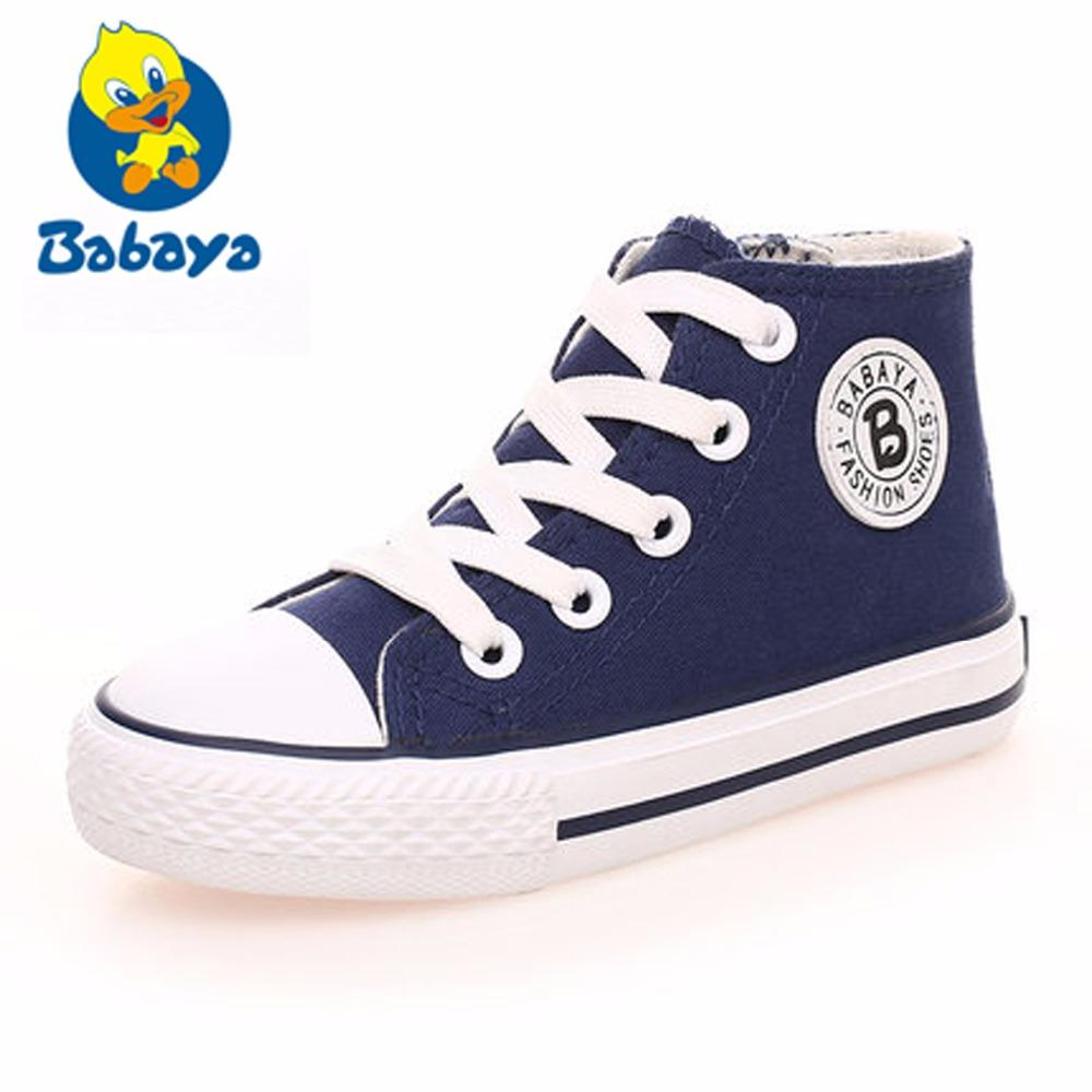 311d92e895ec 2018 Canvas Children Shoes Sport Breathable Boys Sneakers Brand Kids Shoes  For Girls White Casual Child Flat Boots 23 37 Toddler Boy Dress Shoes  Running ...