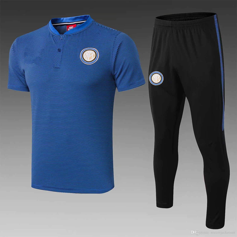 buy popular b62ab 25bc1 2019 20 Inter short sleeve training suit ICARDI tracksuit kit 18 19 Bayern  MULLER polo footall shirt Dortmund REUST jerseys AILLE S-XL
