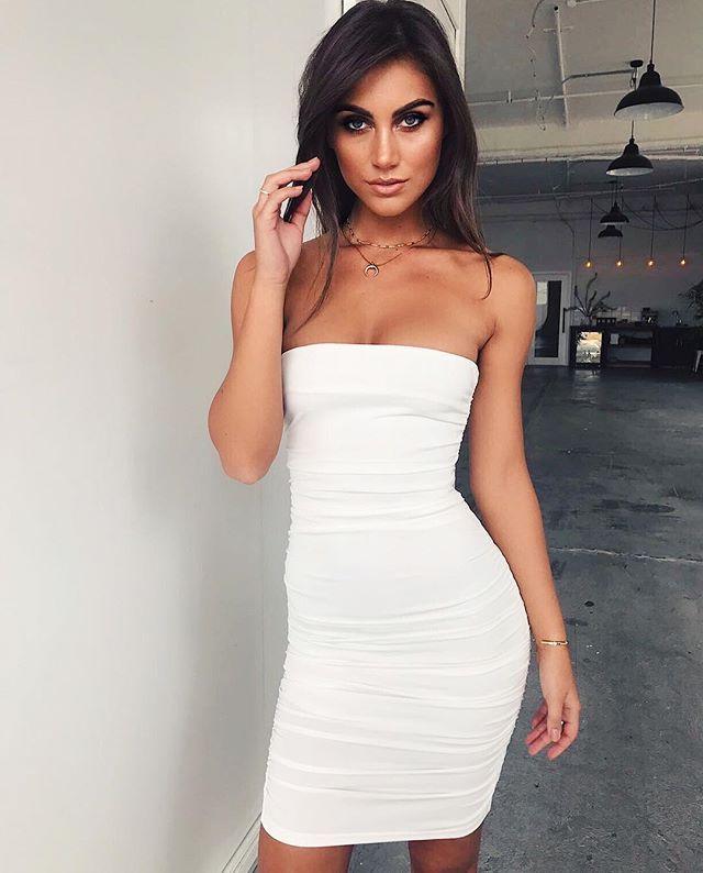 84e5e78befa 2019 Summer Sexy Fashion Women Ladies Party Dress 4 Style Sleeveless  Strapless Skinny Dress SJ5047 From Elmo jinbin