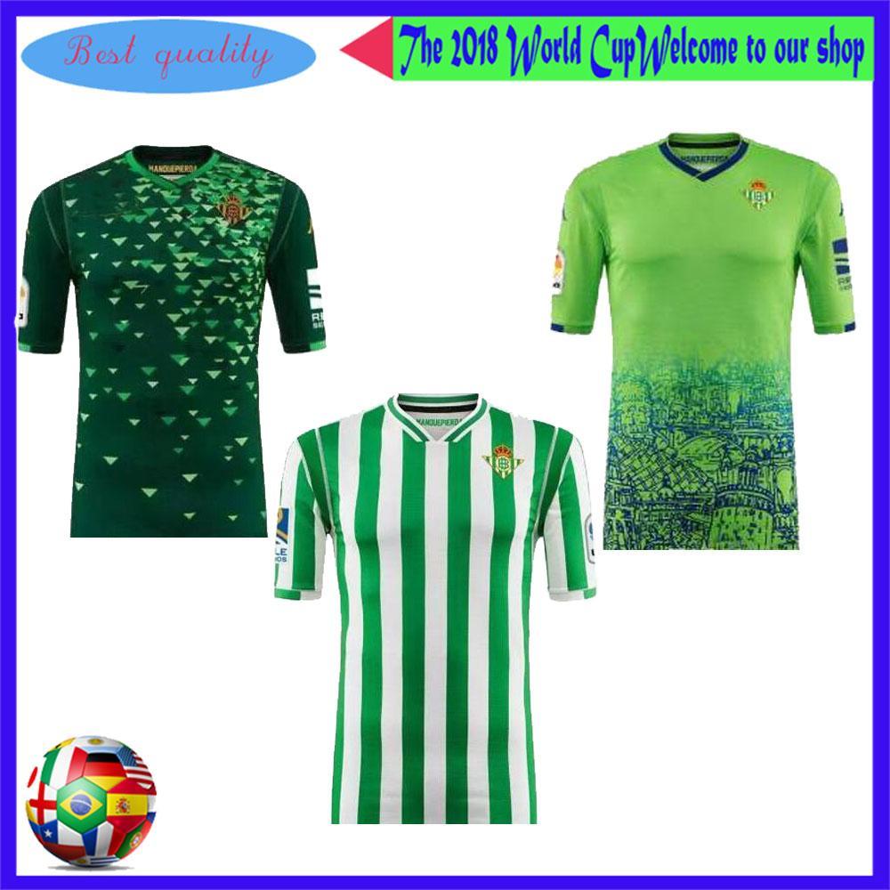 2018 2019 Real Betis Soccer Jersey 18 19 Local JOAQUIN VAN DER VAART  BOUDEBOUZ Camiseta De Fútbol MANDI BARTA TELLO INU Ausente 3er Uniforme De  Fútbol Por ... f2cdabbcb013f