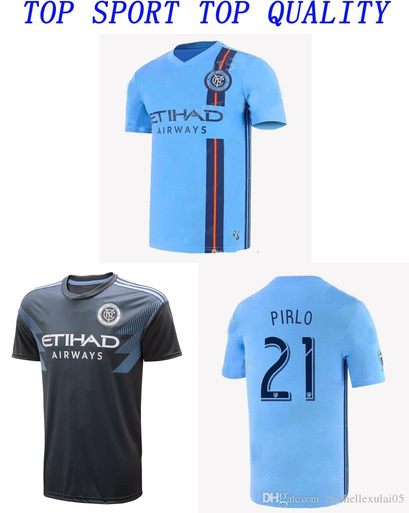 acbb30dd2c4 19 20 New York City Home Blue Away Black Soccer Jersey DAVID VILLA PIRLO  LAMPARD Football Shirts Adult s Top Thai Quality Football Jersey