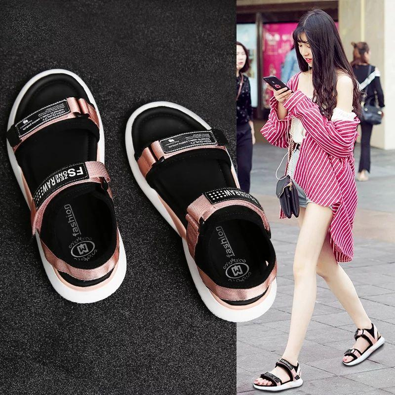 New flat-bottom students wild Korean version of the chic sports Roman ladies shoes non-slip
