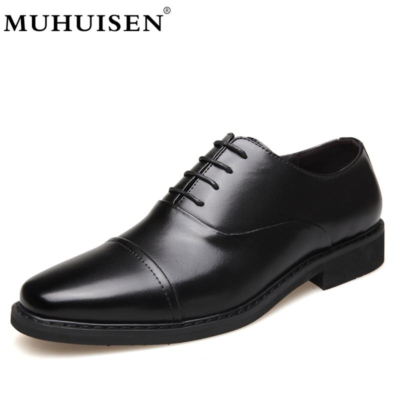 551dc8c3e41 Wholesale Luxury Brand Classic Man Pointed Toe Dress Shoes Mens Split  Leather Black Wedding Shoes Formal Shoes Fashion 26003 Online with   92.53 Pair on ...