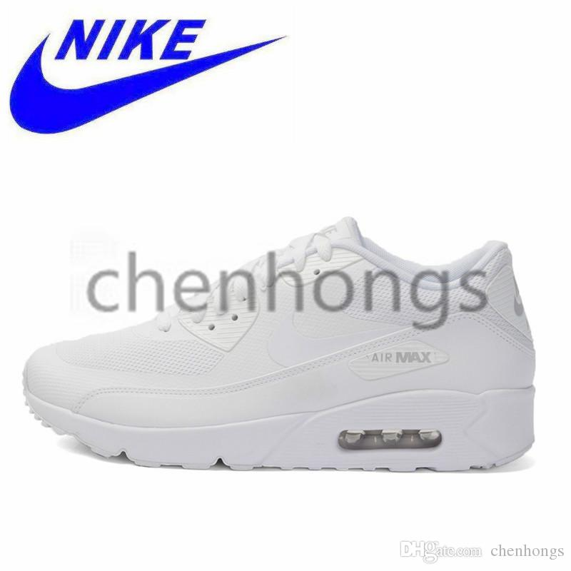 half off 8c7e7 cb451 2019 Original Nike Air Max 90 ESSENTIAL Original 90s Airs Maxs New Arrival  White Men Women Running Shoes Breathable Sport Outdoor Sneakers  537384-111  ...