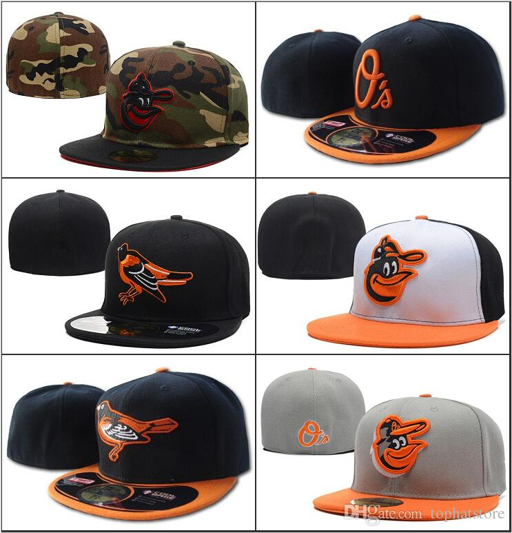 e6ce08396e7 Men S Orioles Fitted Hat Flat Embroiered Letter Logo Fans Baseball Hats  Baseball Cheap Caps Orioles On Field Full Closed Size Cap Custom Fitted Hats  Design ...