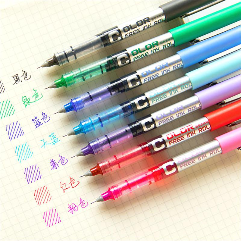 1pcs Concise Highlighter Pen Creative Ink Pen Marker For Kids Students Gift Novelty Item Korean Stationery School Supply