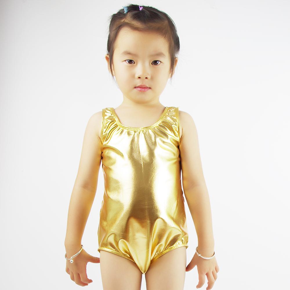 71be4176ddd0 2019 Speerise Toddler Gold Girls Ballet Dance Leotards Shiny ...