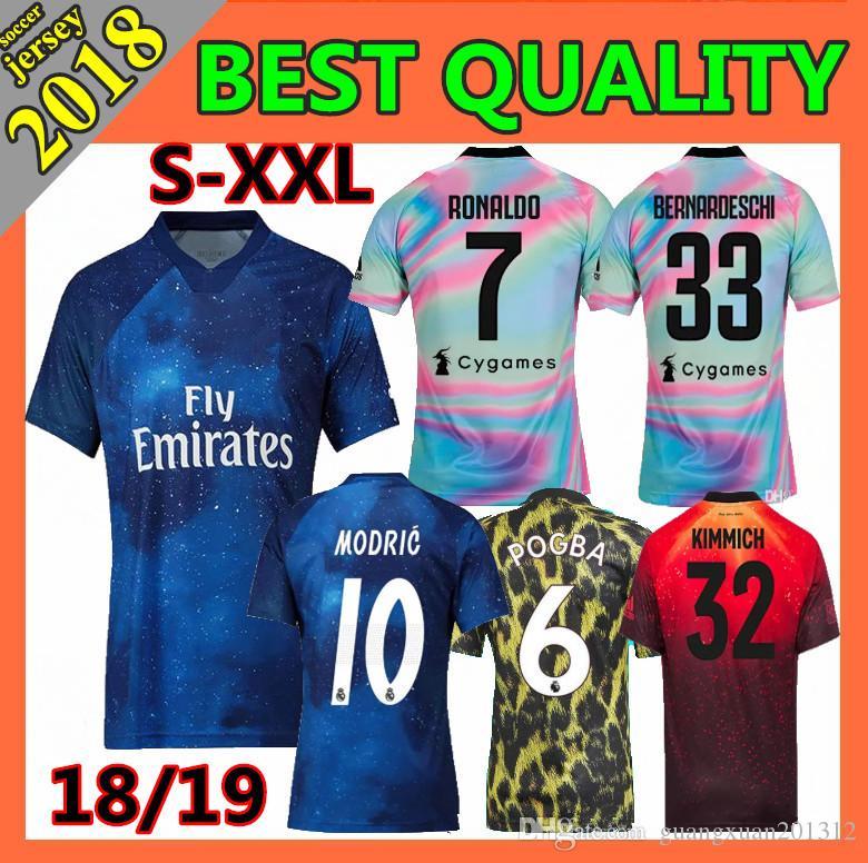 70d153b47 2019 Real Madrid Juventus Soccer Jerseys 2018 POGBA MBAPPE Bayern ...