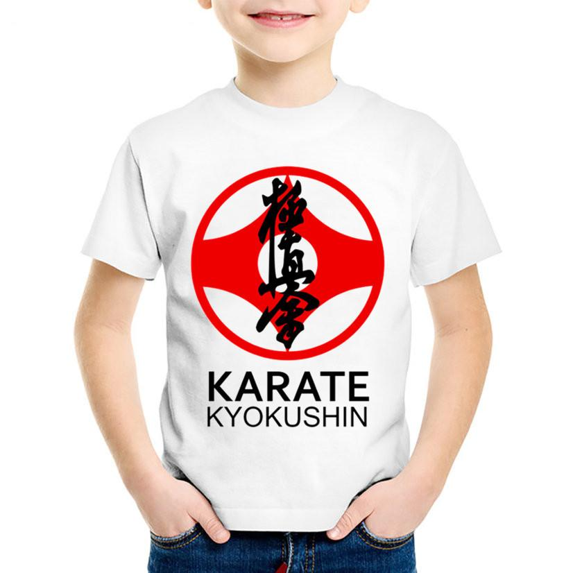 badcb367a61fd Acheter Mode D enfants D impression Kyokushin Karaté Kanji Et Symbole T  Shirts Enfants Tee Shirts D été Pour Garçons   Filles Tops Vêtements Bébé  Casual
