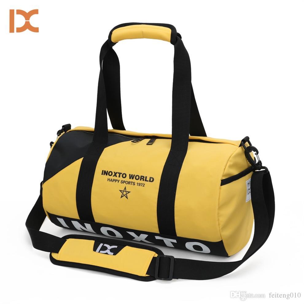 8efb335a6b 2019 Outdoor Waterproof Training Gym Bags Fitness Travel Shouler Pack Travelling  Handbags Women Men Yoga Mat Pack Sac De Sport Duffel #614631 From ...