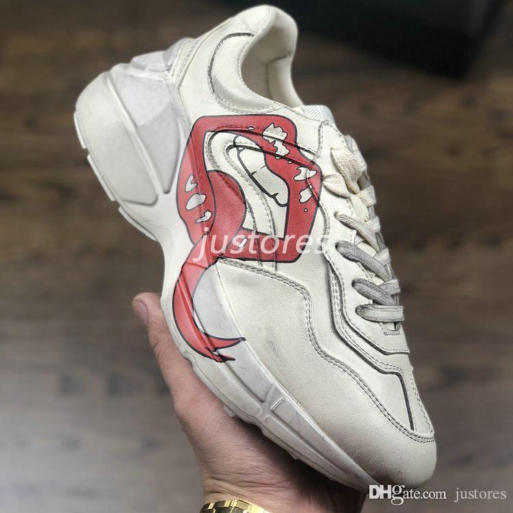 Vintage Größe Top Rhyton Mund Männer 35 Schuh Styles Casual Schuhe Leder Frauen Designer 4 2018 Apollo Sneakers Druck 46 Unisex Luxus E29DHYeIW