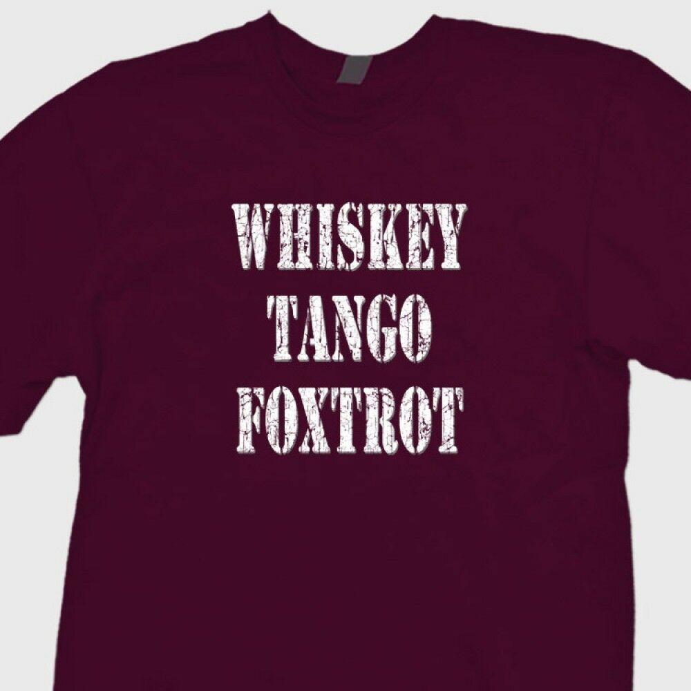 Whiskey Tango Foxtrot WTF engraçado T-shirt Militar humor T Shirt Engraçado  frete grátis Unisex Casual